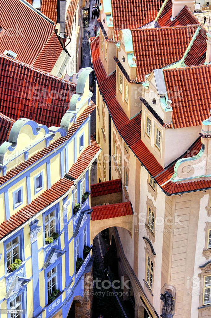 Prague Old Town aerial view, Czech Republic royalty-free stock photo