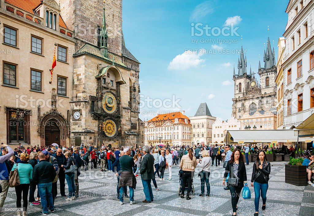 Prague - old town square stock photo