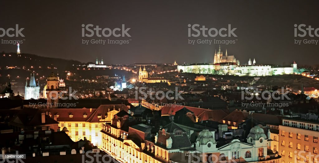 Prague ot night royalty-free stock photo