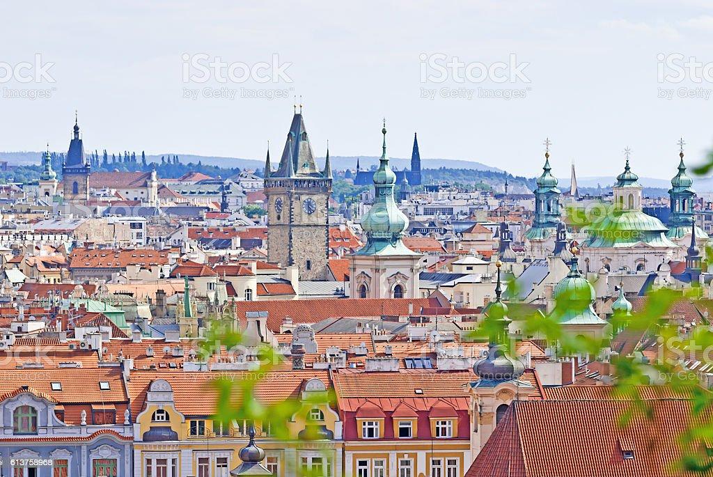 Prague, Overview from Letna, Czech Republic stock photo