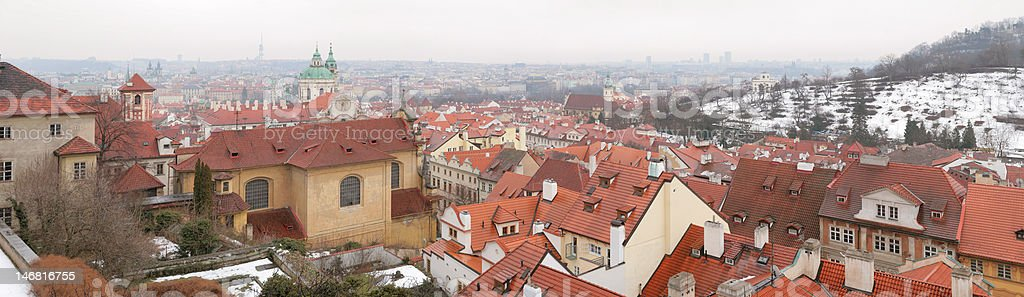 Prague panorama royalty-free stock photo