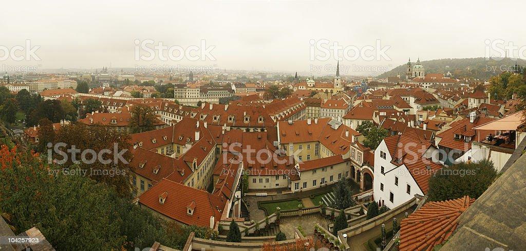 Prague panorama XL stock photo