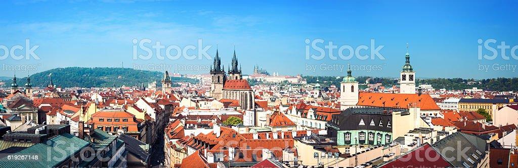 Prague Panoramic stock photo