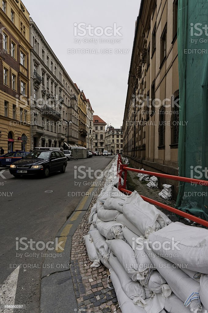 Prague ready for flooding royalty-free stock photo