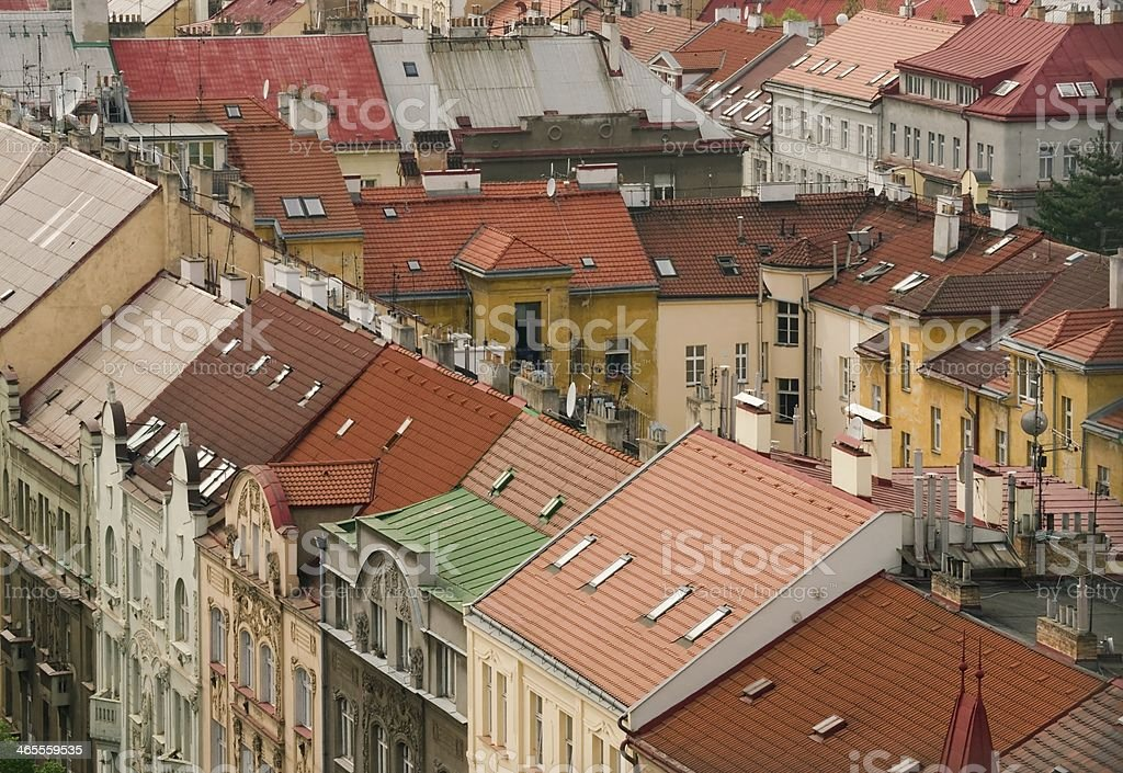 Prague roofs royalty-free stock photo