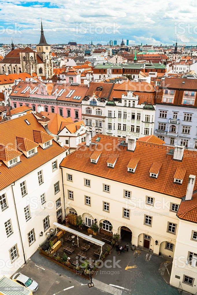 Prague Roofs stock photo