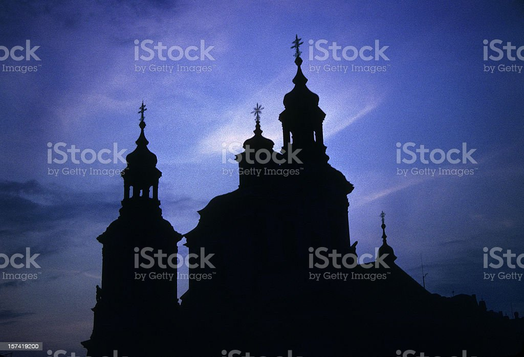 Prague Silhouette royalty-free stock photo