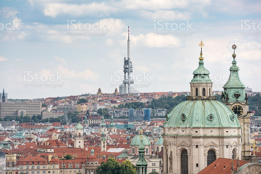 Prague Skyline, Czech Republic stock photo