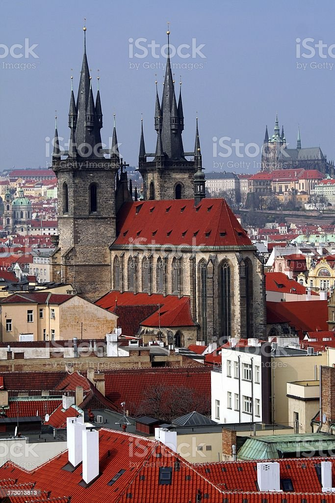 Prague skyline royalty-free stock photo