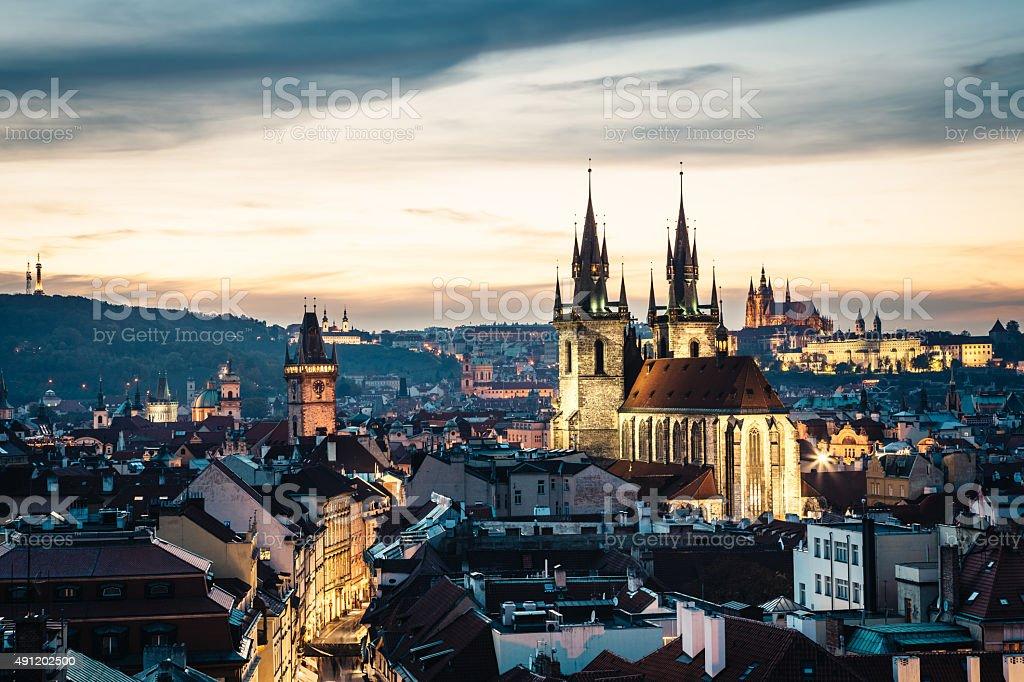 Prague Spires stock photo