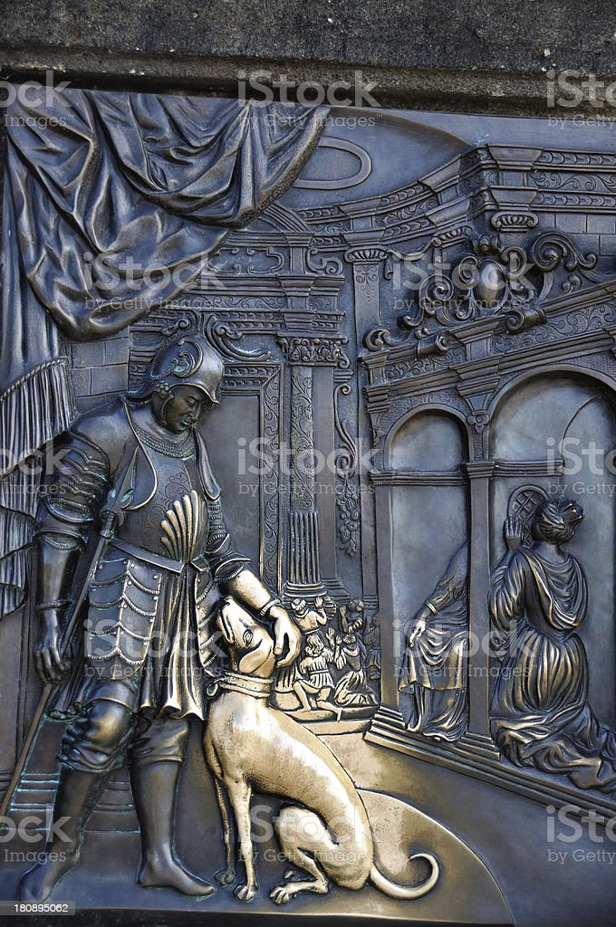 Prague St John Nepomuk statue royalty-free stock photo