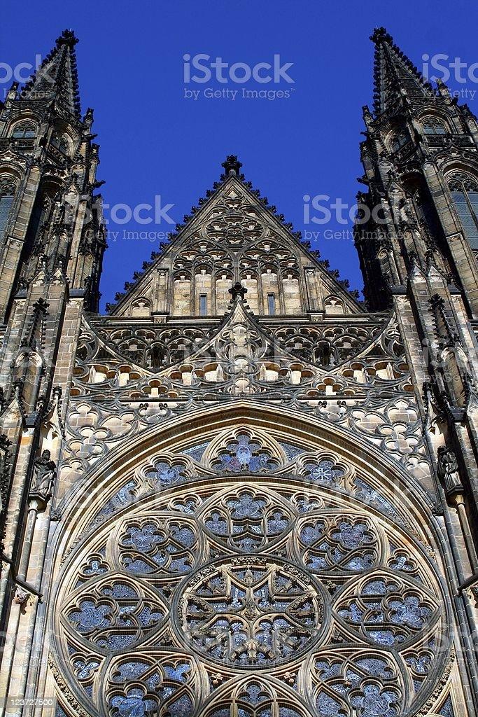 Prague, St. Vitus Cathedral stock photo