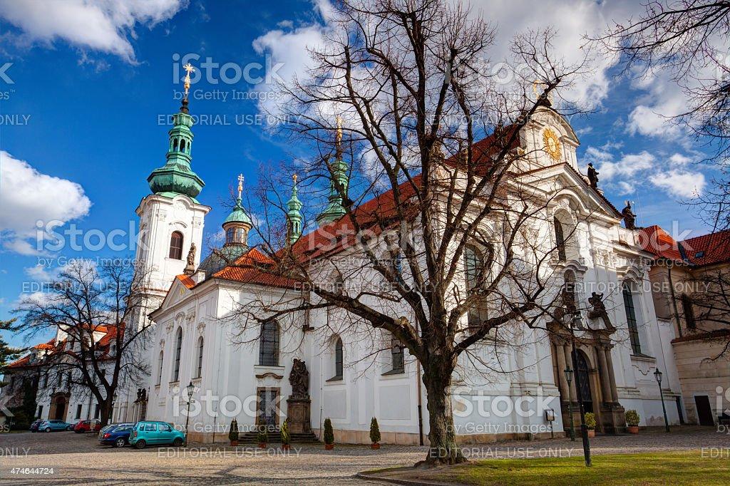 Prague Strahov Monastery. stock photo