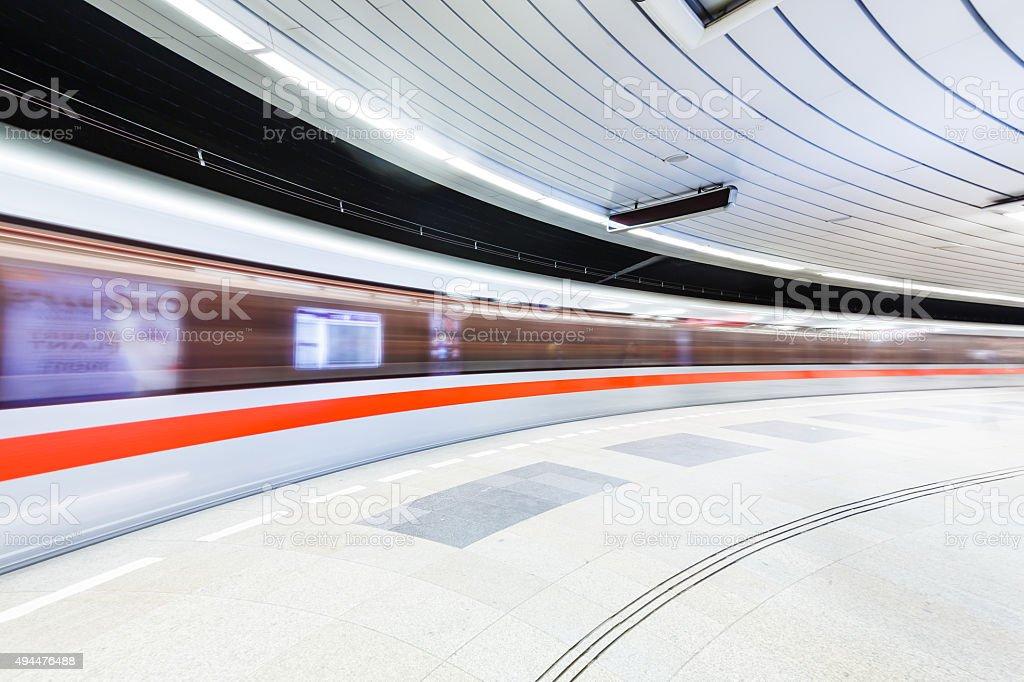 Prague subway stock photo