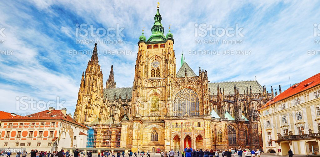 Prague, the seat of the Archbishop of Prague. Czech Republic. stock photo