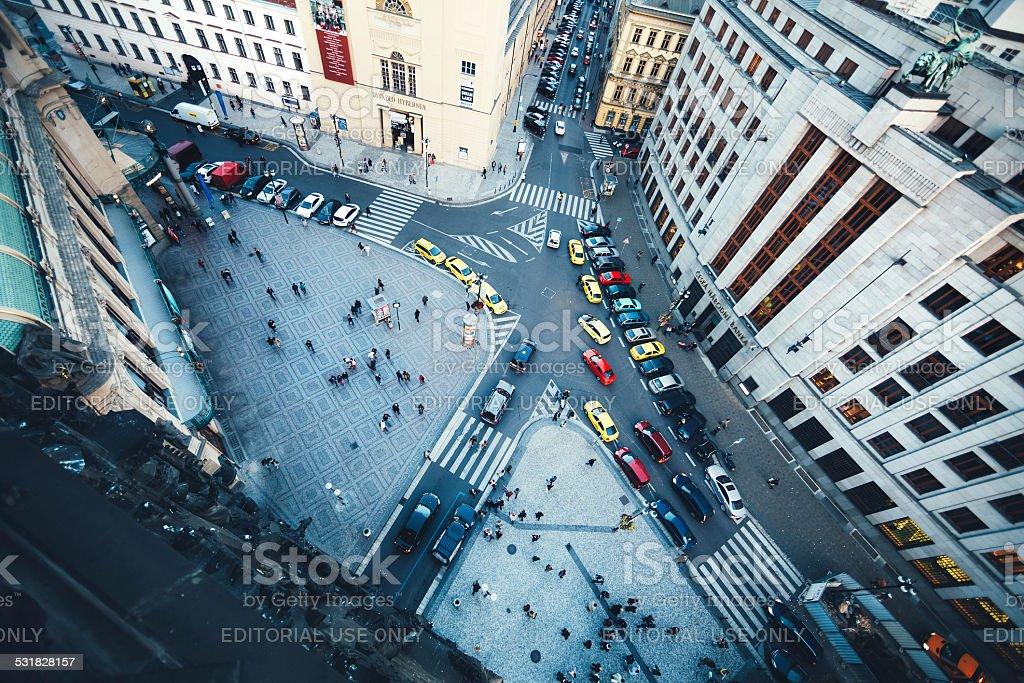Prague Traffic stock photo
