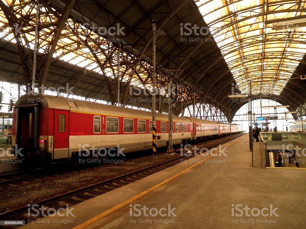 Prague Train Station stock photo
