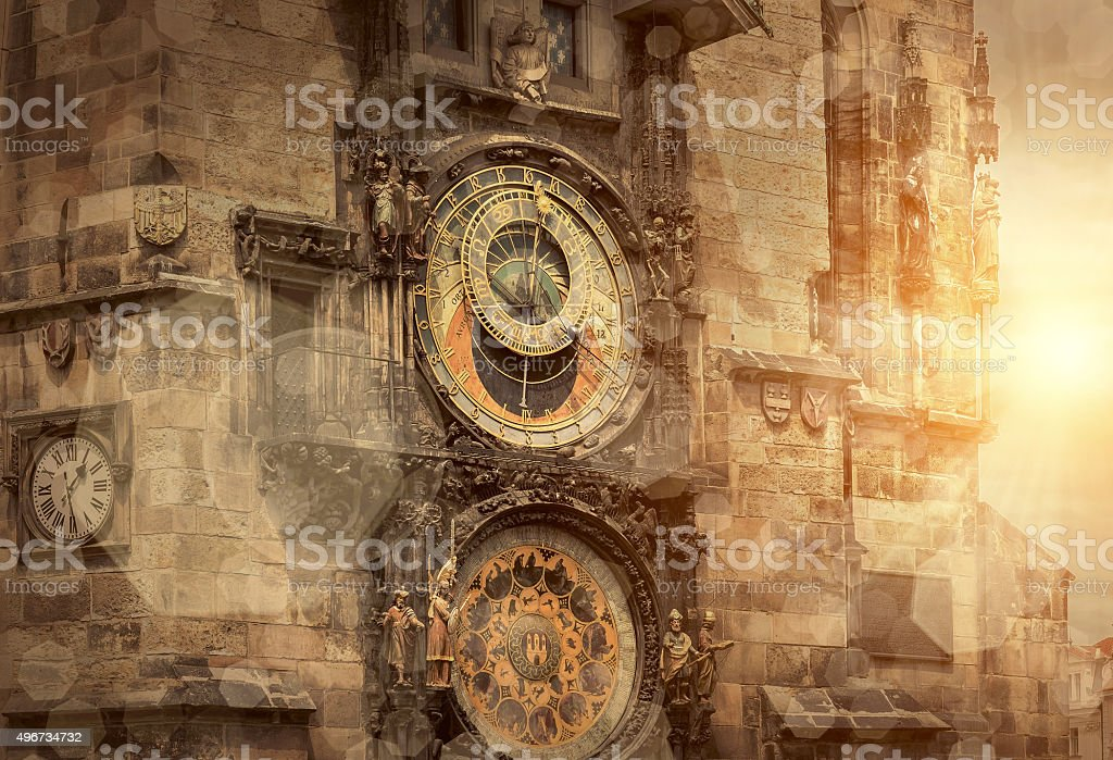 Prague under sunlight - travel place in world stock photo