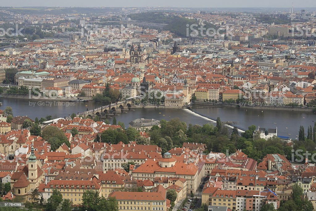 Prague -  view from Petrin view-tower royalty-free stock photo