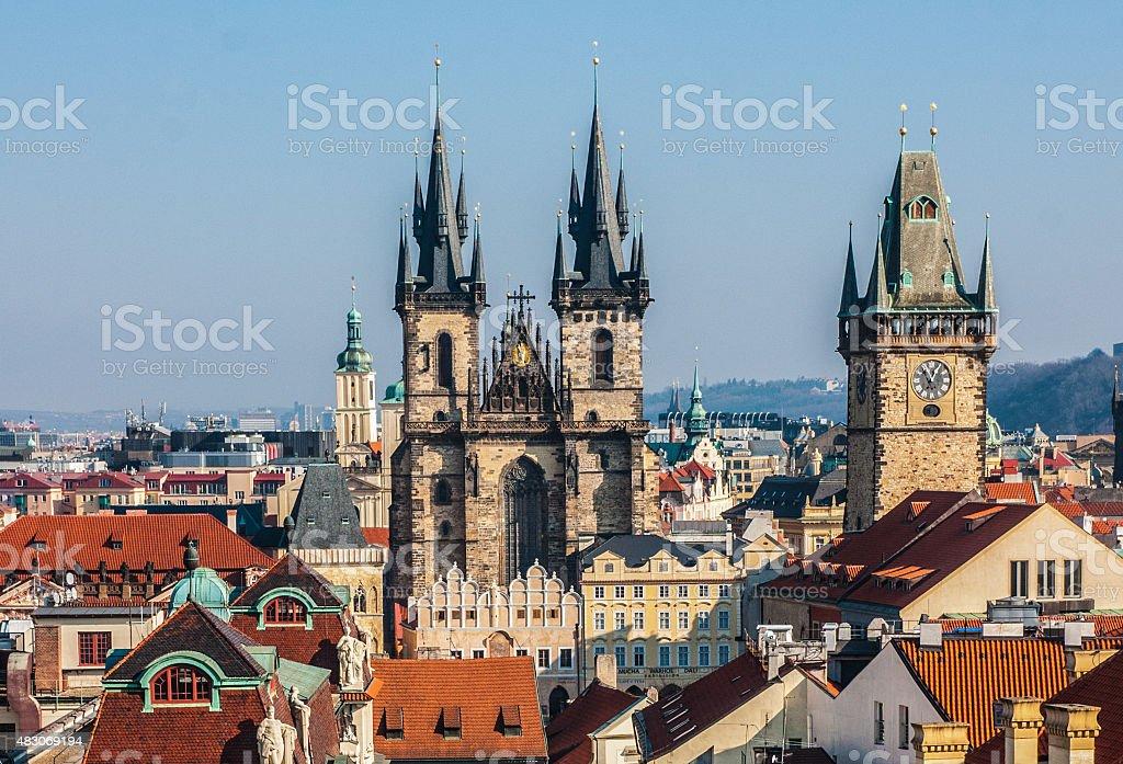 Prague vue depuis la tour Adtrological photo libre de droits