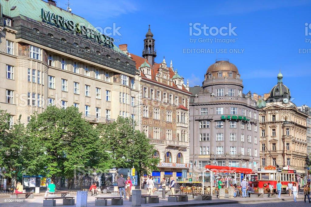 Prague. Wenceslas Square stock photo