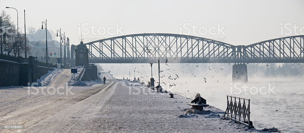 Prague winter time stock photo