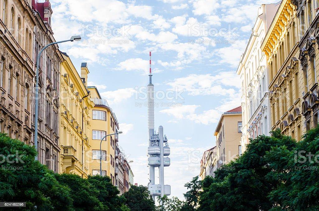 Prague Zizkov Television Tower stock photo