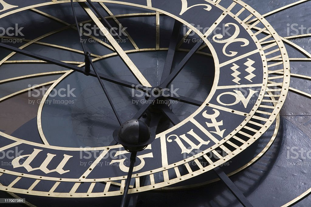 Prague's astronomical clock at the Old Town Square royalty-free stock photo
