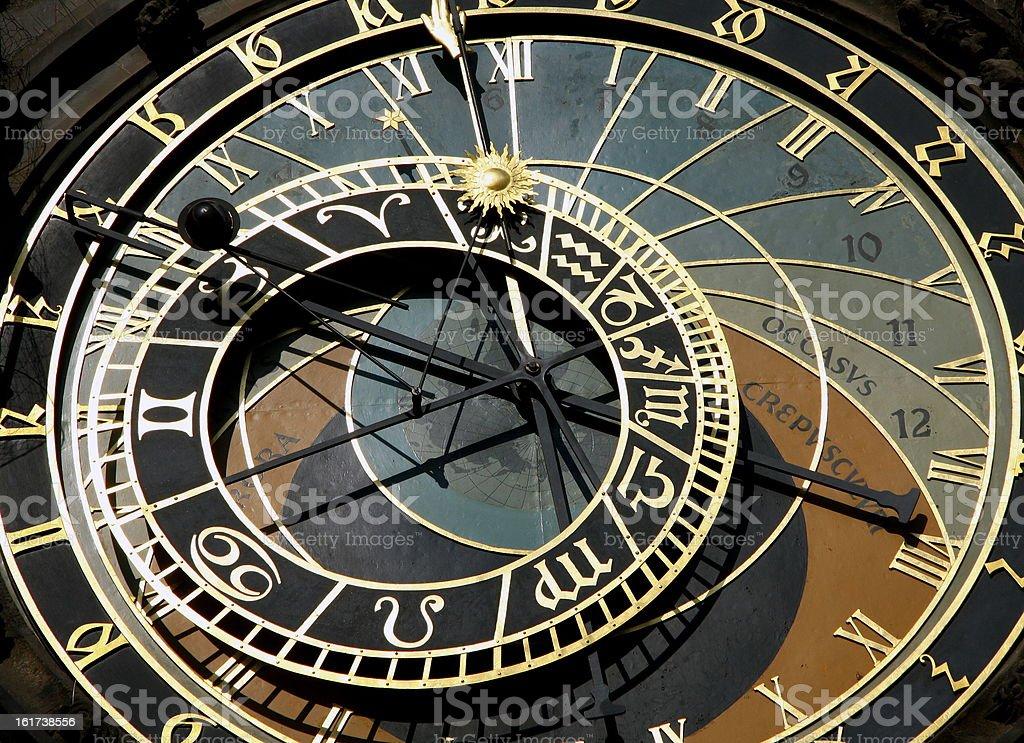 Prague's astronomical clock on royalty-free stock photo