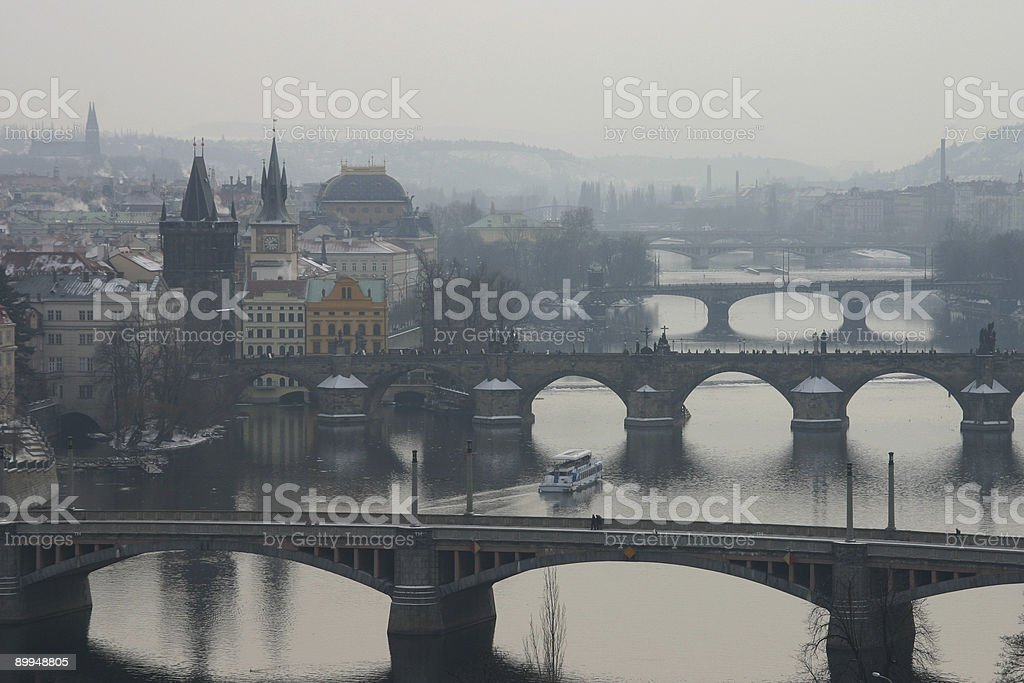Prague's bridges royalty-free stock photo
