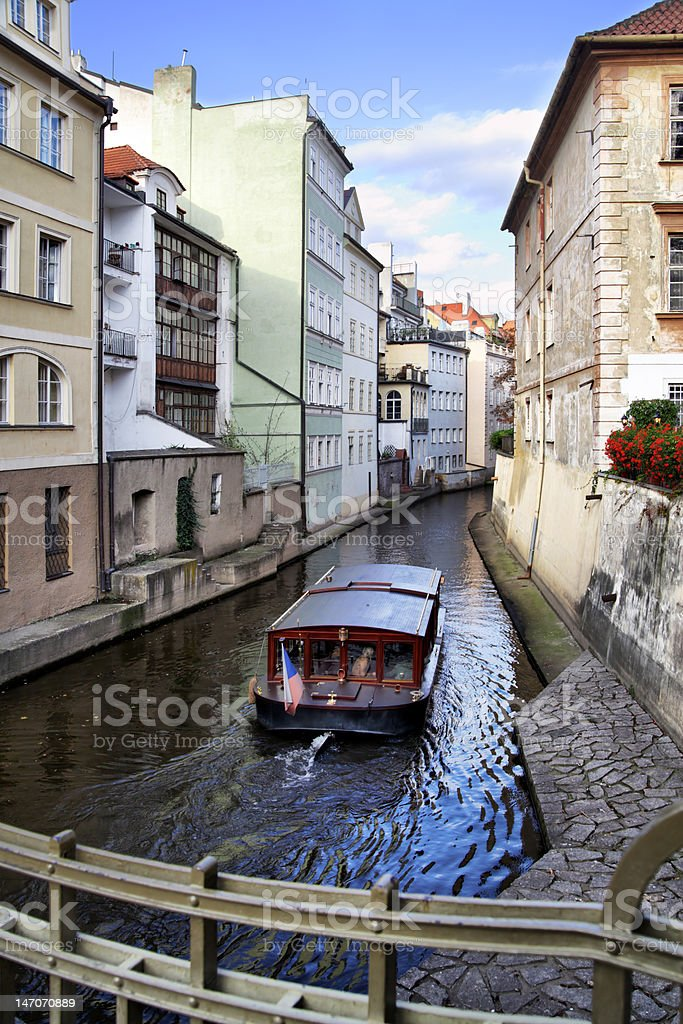 Prague's canal royalty-free stock photo