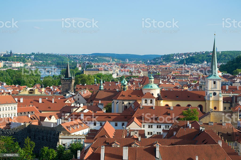 Prague's City View stock photo