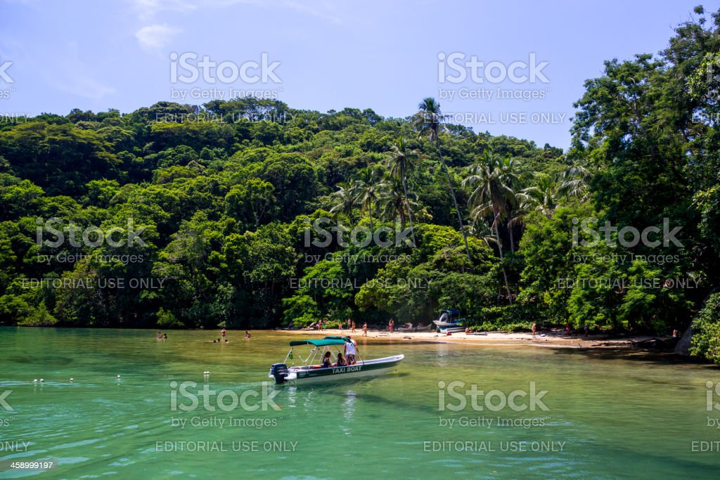 Praia da Crena stock photo