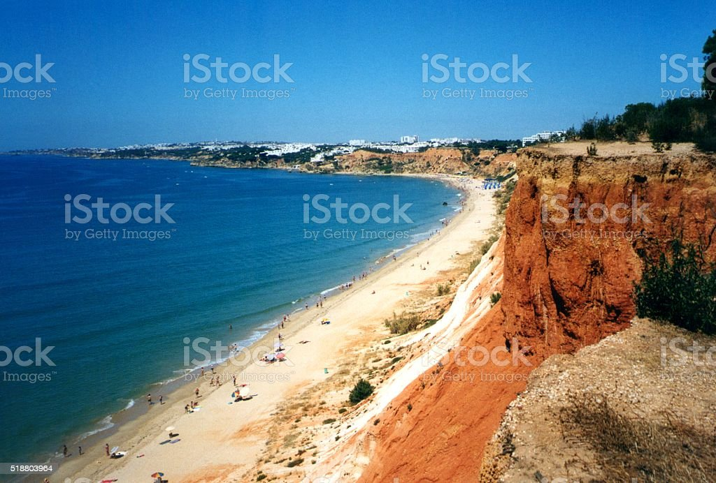 Praia Da Falesia, Algarve, Portugal stock photo