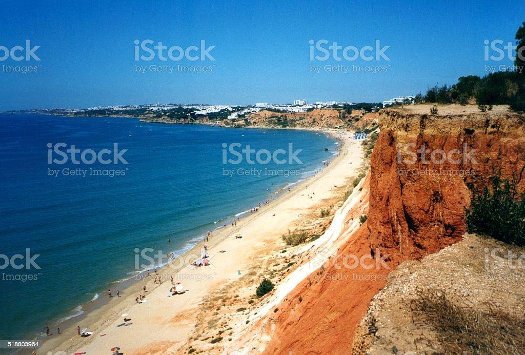 Praia Da Falesia, Algarve, Portugal stock photo
