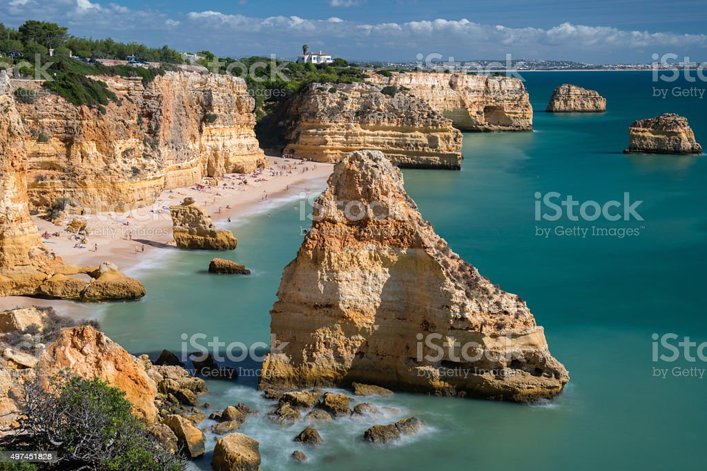 Praia da Marinha, Algarve, Portugal stock photo