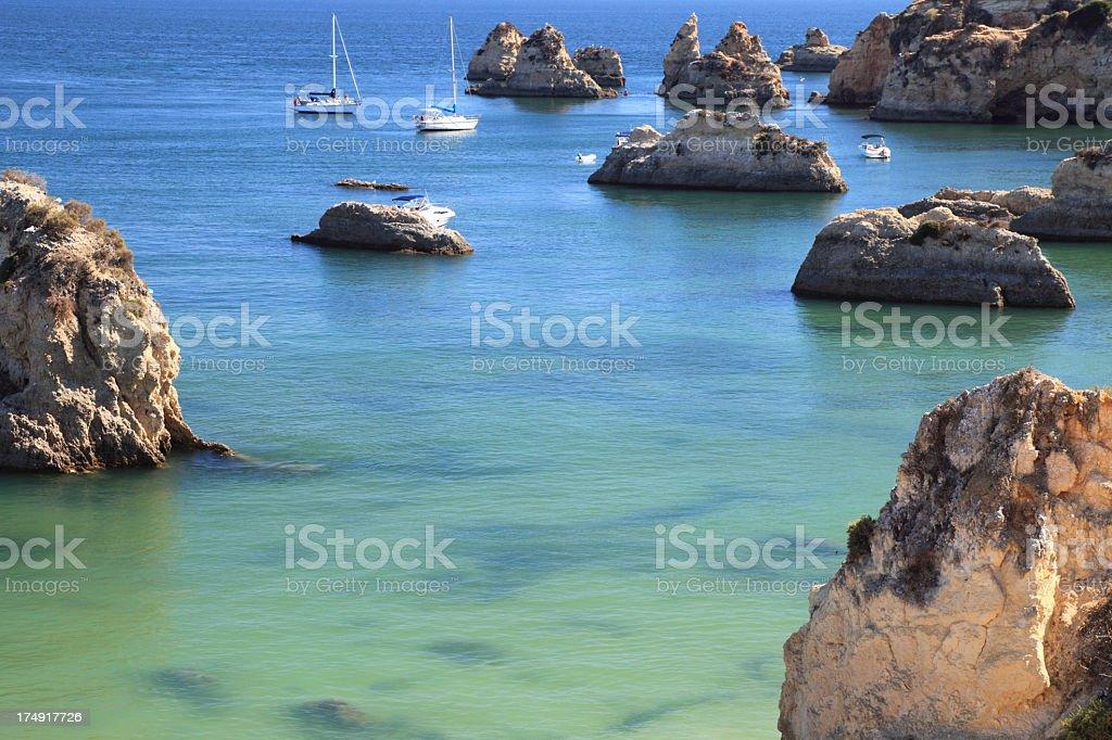 Praia da Marinha royalty-free stock photo