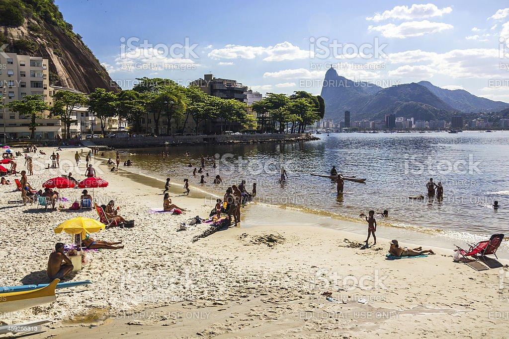 Praia da Urca stock photo