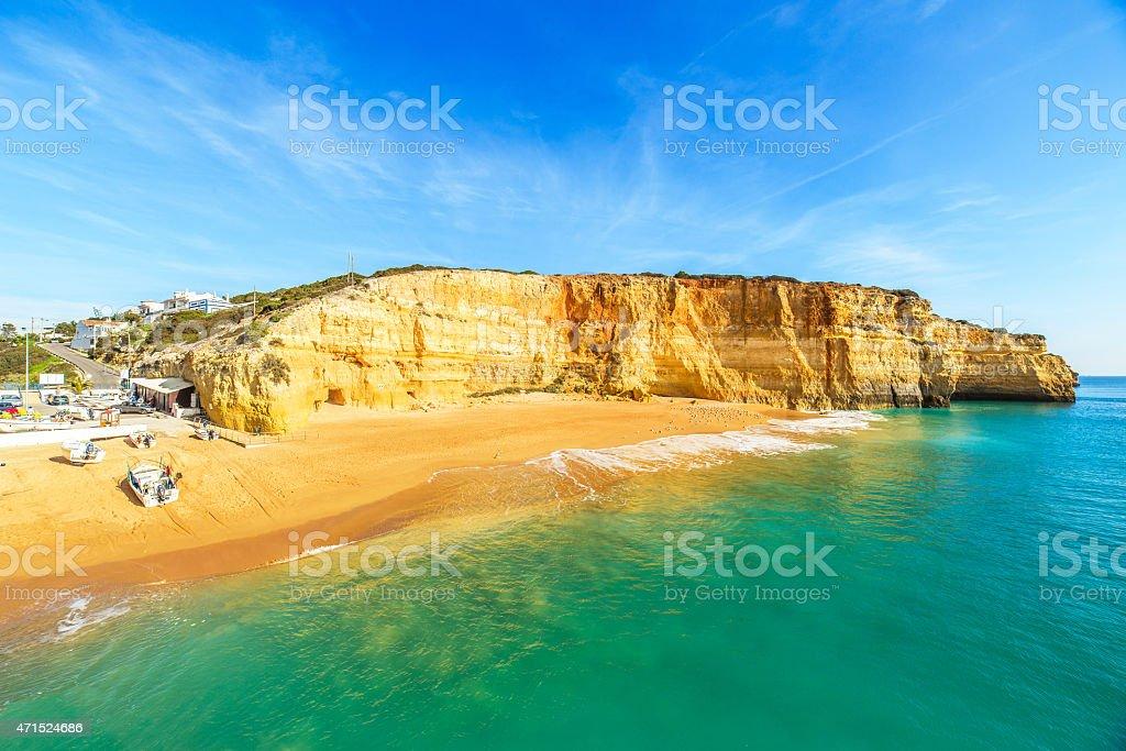 Praia de Benagil, Portugal stock photo