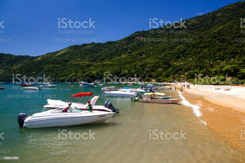 Praia do Abraão stock photo