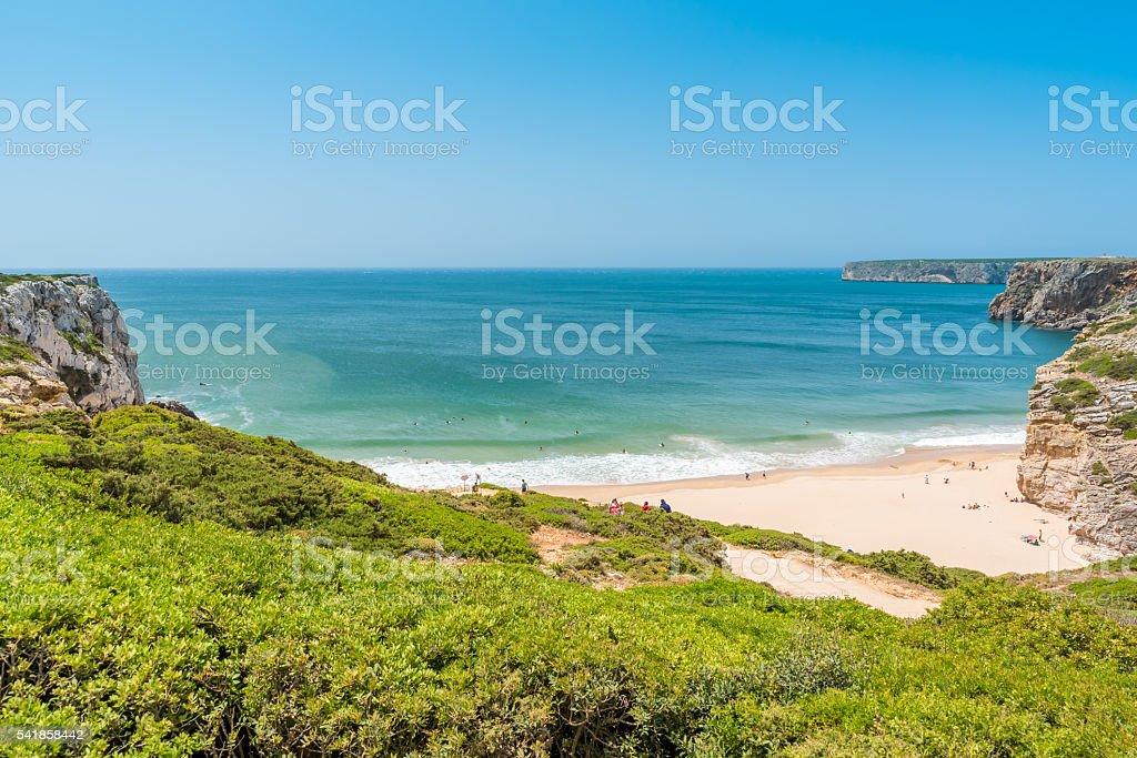 Praia do Beliche - beautiful beach of Algarve, Portugal stock photo