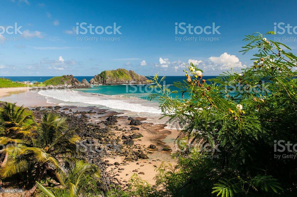 Praia do Cachorro - Fernando de Noronha stock photo