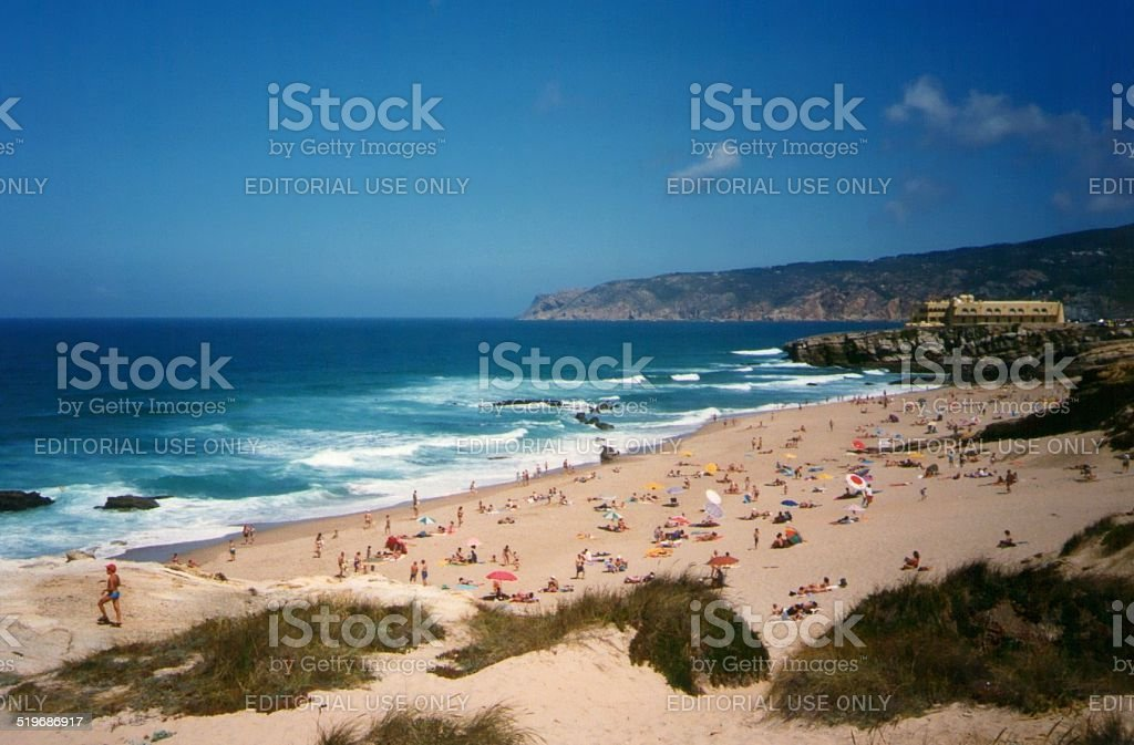 Praia Do Guincho, Cascais - Portugal stock photo