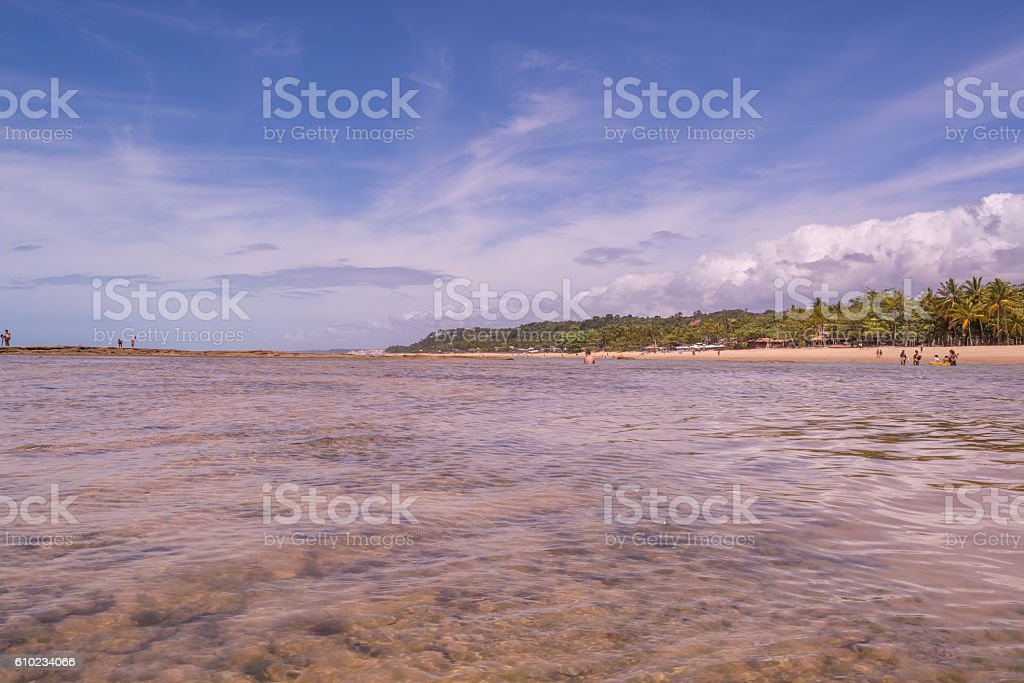 Praia do Mucugê - Arraial d'Ajuda, Porto Seguro stock photo