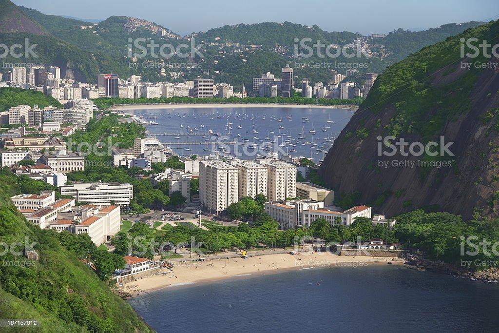 Praia Vermelha in Urca district royalty-free stock photo