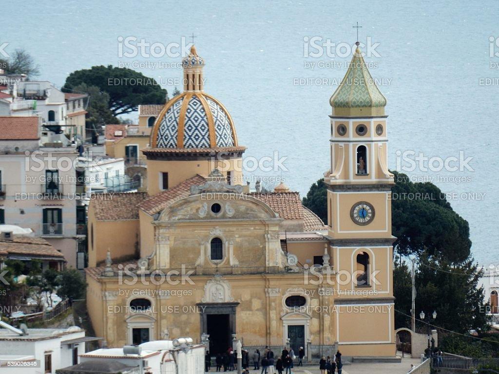 Praiano - Chiesa di san Gennaro stock photo