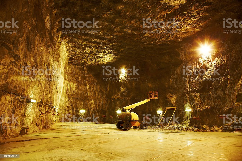 Praid salt mine stock photo
