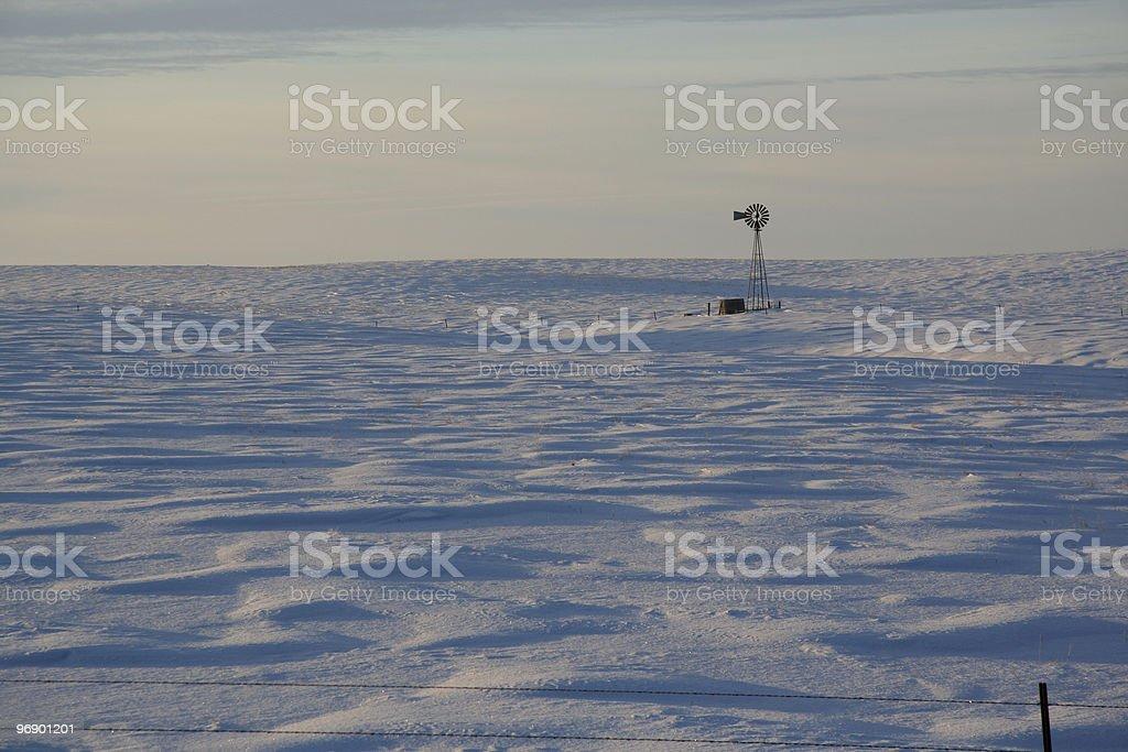 Praire Snow Drift Waves royalty-free stock photo