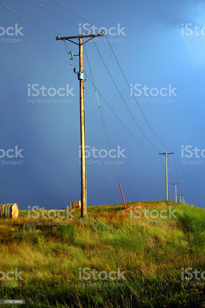 Praire Storm stock photo