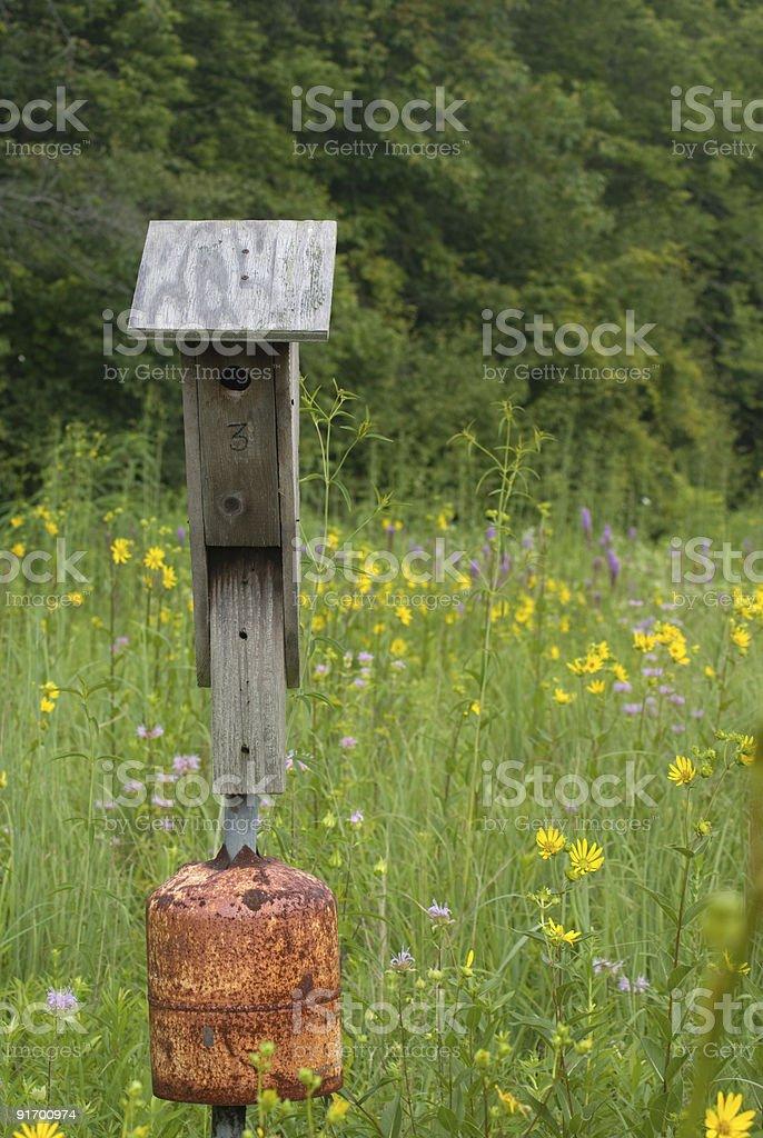 Prairie Birdhouse royalty-free stock photo